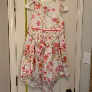 George Girls Dress Floral Pink White Lined Size 10